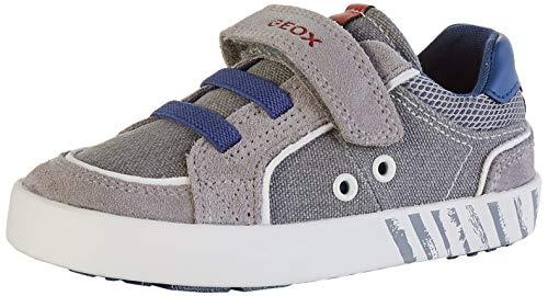 Geox B Kilwi Boy B Sneaker, Grau (Grey/Avio C0493), 24 EU