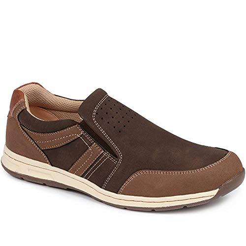 Pavers Hombre Zapatos Sin Cordones Casual Marrón 44 EU