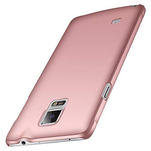 anccer Funda Samsung Galaxy Note 4, Ultra Slim Anti-Rasguño y Resistente Huellas Dactilares Totalmente Protectora Caso de Duro Cover Case para Samsung Note 4 (Oro Rosa Liso)