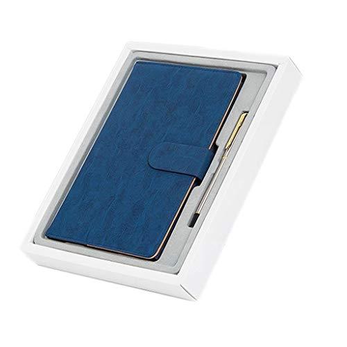 Cuadernos de diario en blanco de papel rayado plan Cuaderno A5 Personalidad Creativo Espesamiento Diario Negocio Retro Simple Cinturón de cuero Hebilla Cuaderno Estudiantes universitarios Aula Paquete