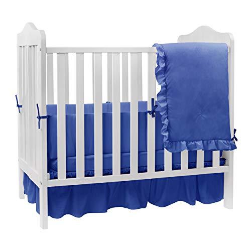 BabyDoll Solid Color Crib Bedding, Royal Blue