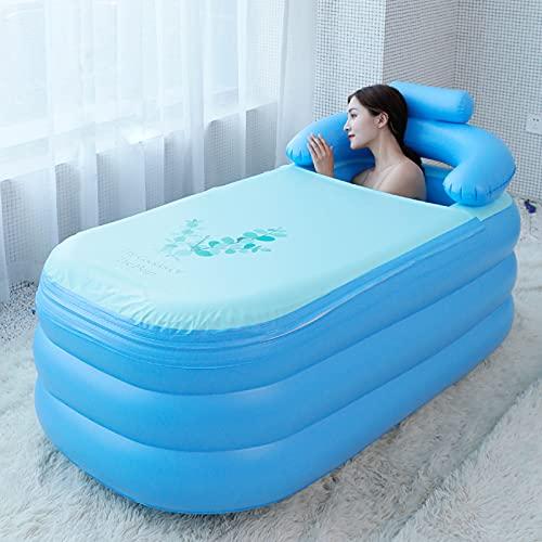 YHSW Bañera Inflable,bañera Plegable portátil,de inmersión,SPA para el hogar con Bomba Aire,Adultos y Piscina Inflable niños (160cm*84 * 55 cm)