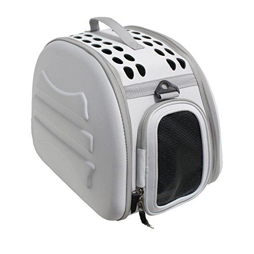 YATEK trasportino Pieghevole e Lavabile per Cani e Gatti, consilgiato per Animali Fino a 5 kg, Colore: Grigio Chiaro