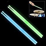 YiPaiSi 5A Luminous Light Up Drum Sticks, Luminous Light Up Drumsticks, Bright Luminous Glow in The...