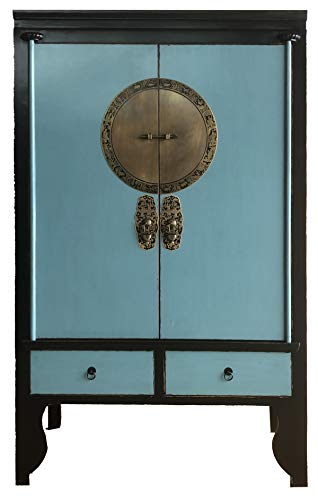 OPIUM OUTLET Armadio armadietto gabinetto mobili Cinese Shabby-Chic Vintage Orientale coloniale Legno