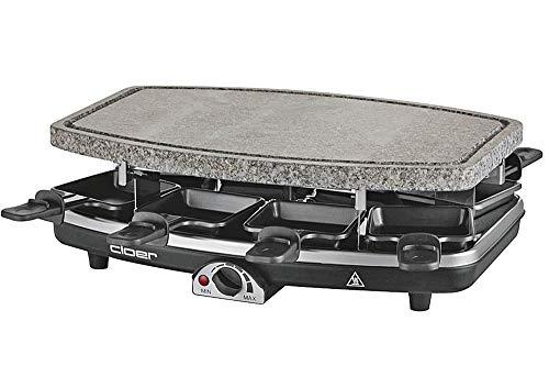 CLOER Raclette 6430 mit Naturstein 1100Watt schwarz