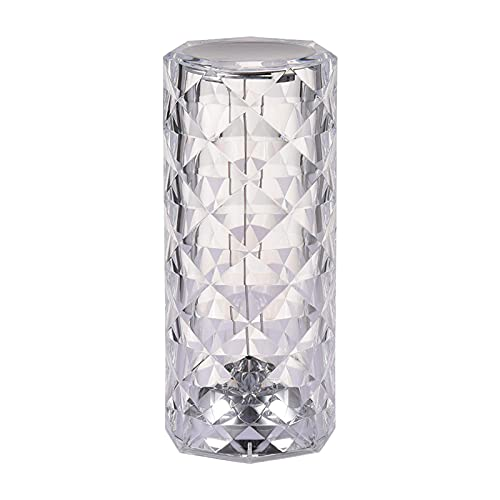 Lámpara de Mesa de Cristal Lámpara de mesilla de Noche con lámpara...