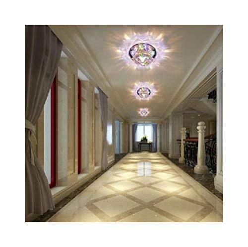 Cristal de la granja Lámpara de techo de 3W dormitorio luz de pasillo lámpara de sala de estar de cristal lámpara de luz iluminación interior, AC200-240V Para comedor
