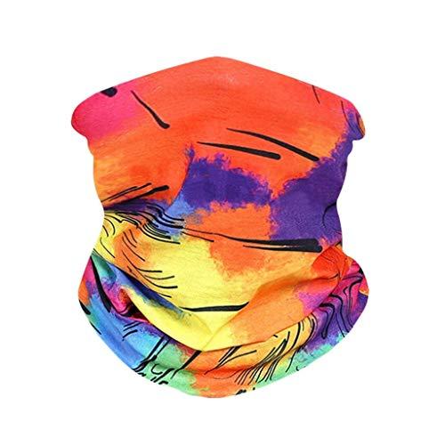 FRAUIT multifunctionele doek voor dames en heren, flower print, naadloze halsdoek mode biker bandana sport-halsdoek unisex, sneldrogend - winddicht gezichtsschaar voor stof outdoor UV-bescherming