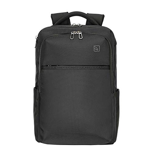 Tucano - Marte Gravity PC Backpack, Compatible with MacBook PRO 16', Laptop 15.6 inch, Anti Gravity System Perceived Load Reduction, Black