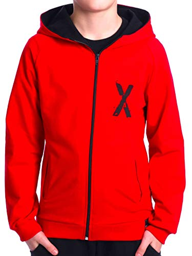BEZLIT Kinder Jungen Hoodie Kapuzen Pullover Sweatshirt Sweater Sweatjacke Pulli 30237 Rot 116
