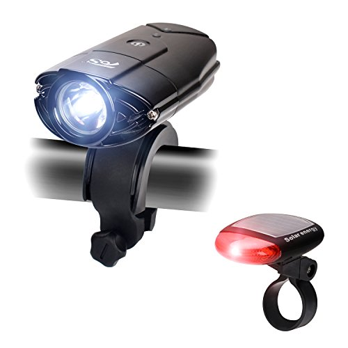 Vovoly Luce per Bicicletta Fanale Impermeabile,USB Ricaricabile,luce posteriore Energia solare