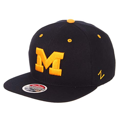 Zephyr Z11Superstar Snapback Cap Flat Bill–NCAA, eine Größe verstellbar Baseball Hat, Michigan Wolverines - Navy