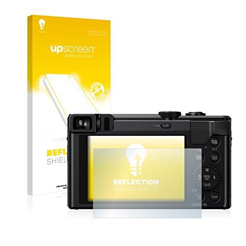 upscreen Entspiegelungs-Schutzfolie kompatibel mit Panasonic Lumix DMC-TZ81 – Anti-Reflex Bildschirmschutz-Folie Matt