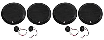 2-Pairs Rockford Fosgate P1675-S Punch 6.75  240w Car Audio Component Speakers