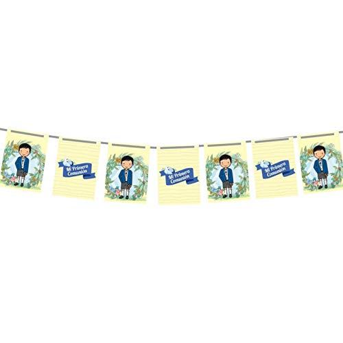 Banderines Comunion Niño Personalizado - Decoracion de comuniones - Decoracion Mesa Candy personalizacion