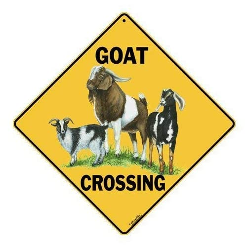 "GOAT LOVER Street Sign farm farmer animal dairy lover 18/"" Wide Indoor//Outdoor"