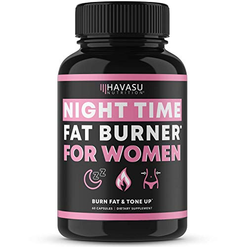 Havasu Nutrition Night Time Fat Burner for Women | Sleep Aid, Appetite Suppressant, and Metabolism Booster for Detox & Cleanse | Healthier Weight Loss | 60 Vegetarian Weight Loss Pills for Women