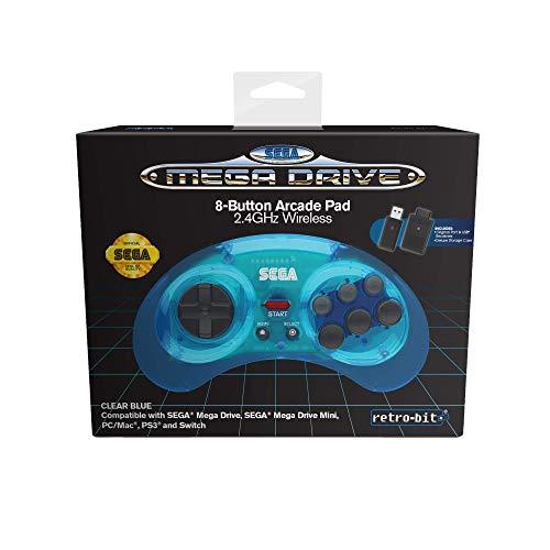 Retro-Bit Sega MD 8-B 2.4G Wl BLU - Not Machine Specific Mac OS X, Windows XP, Nintendo Switch, PlayStation 3