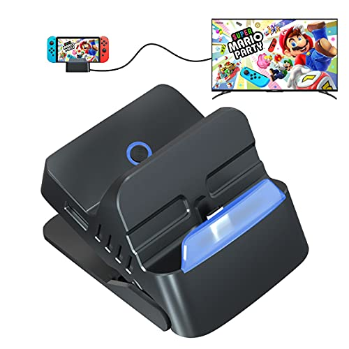 Switch Dock for Nintendo Switch ,Charging Dock Portable Nintendo Switch Dock Replacement Base Nintendo Switch Docking Station 4K HDMI USB 3.0 2.0 Ports Travel Switch TV Dock