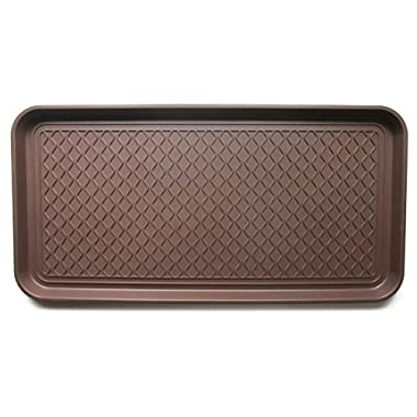 Multi-purpose Tray by Alex Carseon, for Boots, Shoes, Paint, Pets, and more. Anti-skid bottom. 30x15x1.2 inches - Brown