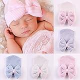 Yichener - Gorro de Lana para bebé recién Nacido, cómodo y con Lazo, Gorro de...