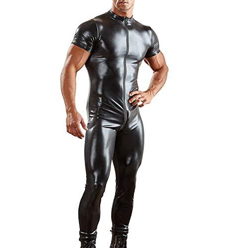 Verführerischer Sissy-Reißverschluss für Herren Siamese Lingerie Bodysuit Unterhosen Nachtwäsche