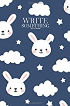 Notebook - Write something: Cute rabbit good night seamless pattern, sweet dream animal background with clouds for kids notebook, Daily Journal, ... College Ruled Paper, 6 x 9 inches (100sheets)