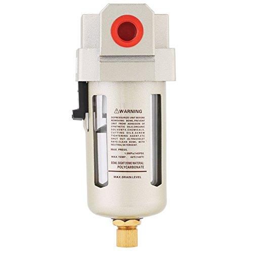 Filtro de agua de humedad, filtro seguro AF3000-03 Descarga de presión diferencial hecha de metal Humedad en