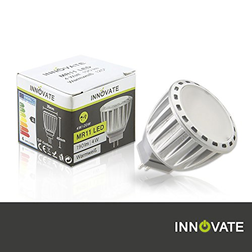 Innovate MR11 LED-lamp spot / 4W - Vervanging 20W, warm wit - 3000K, 190 lumen, 120 ° stralingshoek