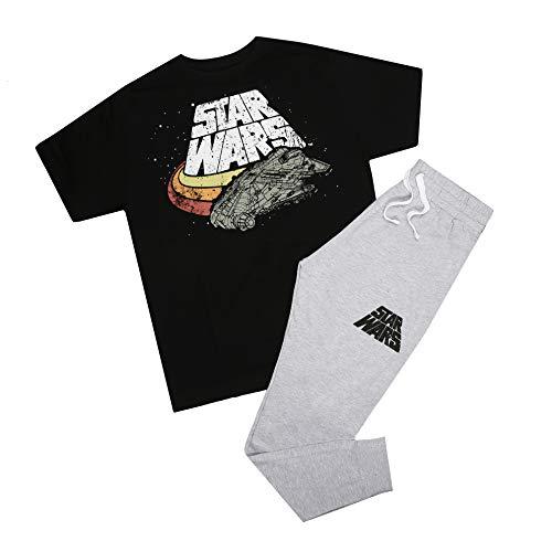 Star Wars Falcon Logo Pyjama Set Pigiama, Multicolore, Small Uomo