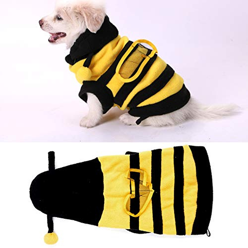 OhhGo - Disfraz de abeja para perro con capucha, para mascotas