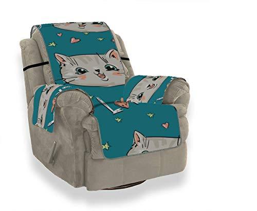 Yushg Smart Gut erzogen Niedliche Katze Tier Haustier Schonbezug Bürostuhl Sofabezüge Für Wohnzimmer Schonbezug Ohrensessel 21