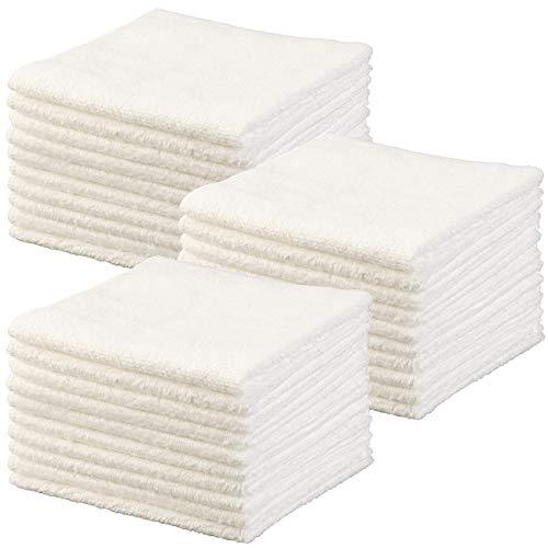 Sichler Beauty Handtuch: Mikrofaser-Kosmetiktücher zur Gesichtspflege, 30 Stück, weiß, 30x30 cm (Abschmink-Tücher)