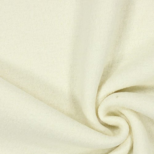 Fabulous Fabrics Walkloden – wollweiss — Meterware ab 0,5m — zum Nähen von Jacken, Mäntel und Blazer