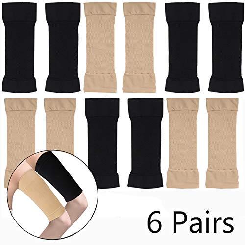 fascia braccio Fiyuer 6 Paia maniche a braccio dimagrante compressione Scaldamuscoli Braccia Manicotti Sportivi per Donne Ragazze Perdita Peso
