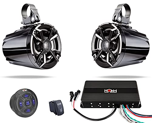 NOAM NUTV5 - Marine Bluetooth ATV Golf Cart UTV Speakers Stereo System