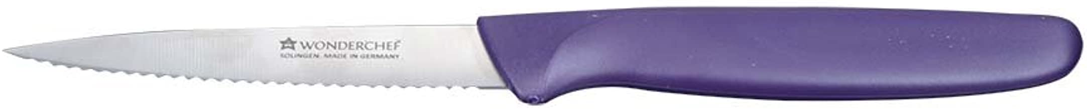 Wonderchef Solingen Smart-Line Serrated Stainless Steel Chef Knife 10cm Purple