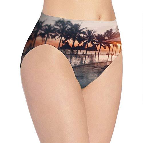 Adamitt Ropa Interior Suave de Las Mujeres, Bragas de Las Bragas de la señora Atractiva de la Moda del Resort de Playa