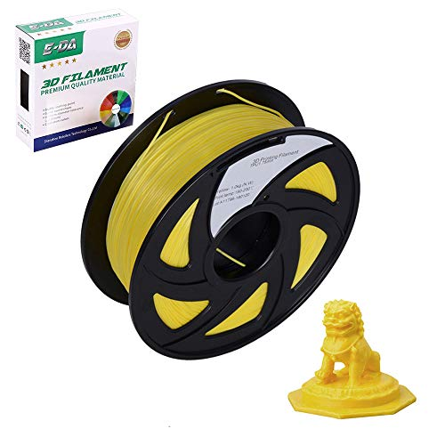 E-DA ABS 3D Printer Filament, ABS Filament, With High Strength and Better Toughness, 3D Printing Filament for 3D Printers, Dimensional Accuracy +/- 0.03mm, (Yellow)