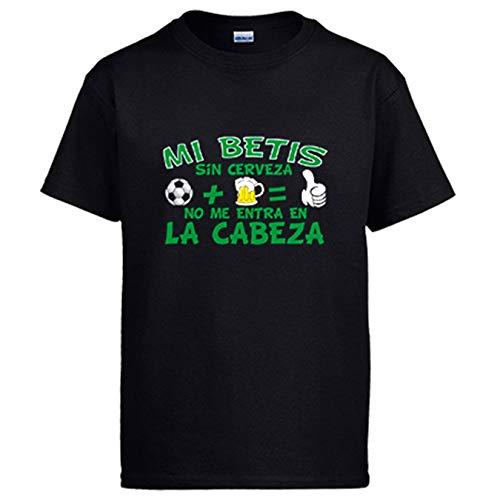 Camiseta Mi Betis sin Cerveza no me entra en la Cabeza - Negro, XXL