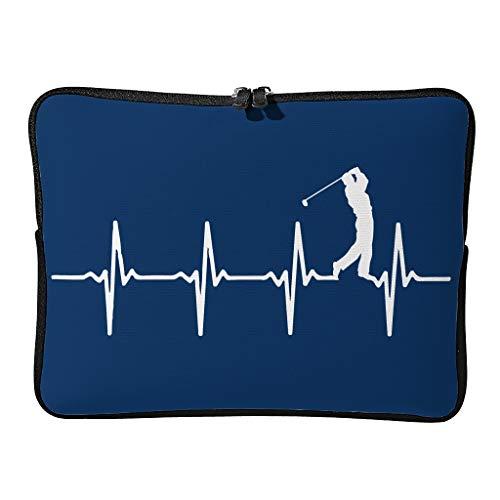 Normal Golf Heart Beat - Funda para portátil (resistente a los arañazos)