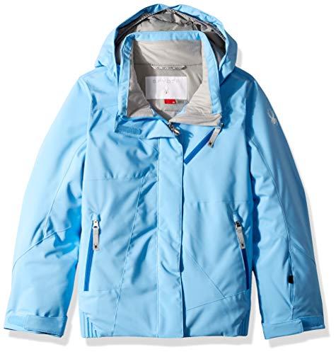 Spyder Mädchen Skijacke Lola, Mädchen, Girls' Lola Ski Jacket, Blaues Eis / Blaues Eis / Türkisches Meer, Size 12