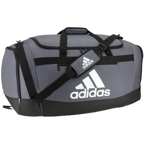adidas Defender 4 Large Duffel Bag, Team Onix Grey, One Size