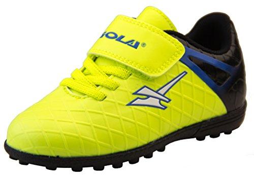 Gola Activo5 - Scarpe da calcio per erba sintetica, sneakers sportive per ragazzi, Giallo (Giallo Volt Nero), 25 EU