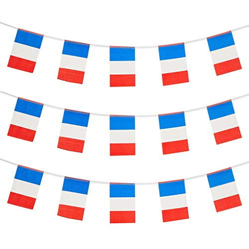 France Flags French Small String Mini Flag Pennant Banner Decorations