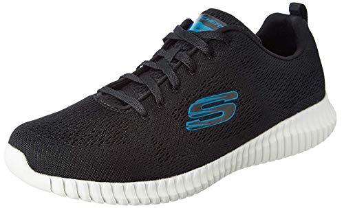 Skechers heren sportschoenen Elite Flex - Clear Leaf, zwart/blauw, maat 44.