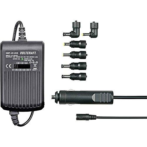 VOLTCRAFT SMP-45 USB Notebook-Netzteil 45 W 9.5 V/DC, 12 V/DC, 15 V/DC, 16 V/DC, 18 V/DC, 19 V/DC, 20 V/DC 3 A