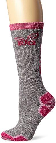 Realtree Girl Women's Wool Blend Tall Boot Socks (1-Pair), Grey, Medium