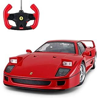 Radio Remote Control 1/14 Scale Ferrari F40 Licensed RC Model Car w/Front Light Controller Open/Close(Red)